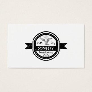 Established In 22407 Fredericksburg Business Card