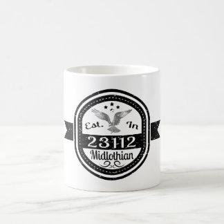 Established In 23112 Midlothian Coffee Mug