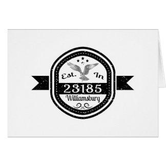 Established In 23185 Williamsburg Card