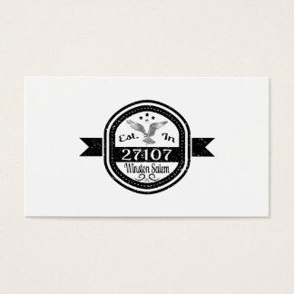 Established In 27107 Winston Salem Business Card