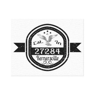 Established In 27284 Kernersville Canvas Print