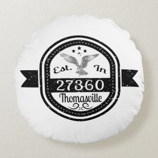 Established In 27360 Thomasville Round Pillow