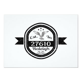 Established In 27610 Raleigh Card