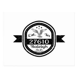 Established In 27610 Raleigh Postcard