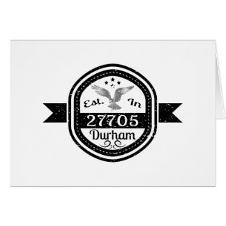 Established In 27705 Durham Card