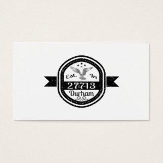 Established In 27713 Durham Business Card