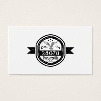 Established In 28078 Huntersville Business Card