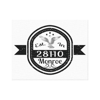 Established In 28110 Monroe Canvas Print