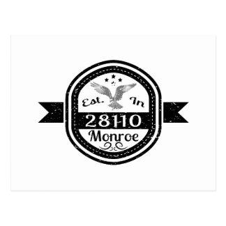 Established In 28110 Monroe Postcard