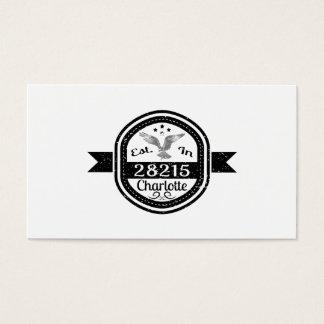 Established In 28215 Charlotte Business Card