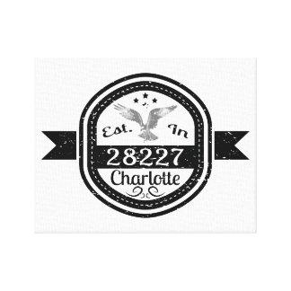 Established In 28227 Charlotte Canvas Print
