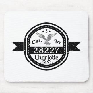 Established In 28227 Charlotte Mouse Pad
