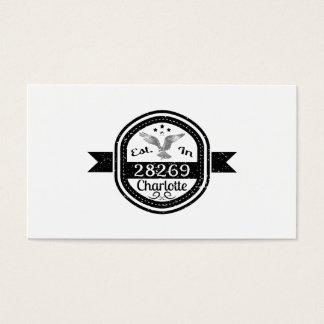 Established In 28269 Charlotte Business Card