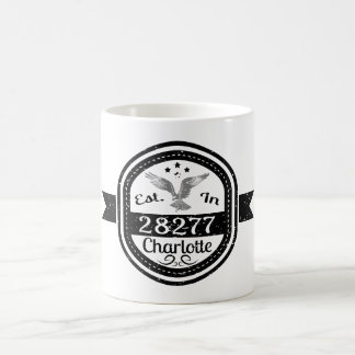 Established In 28277 Charlotte Coffee Mug