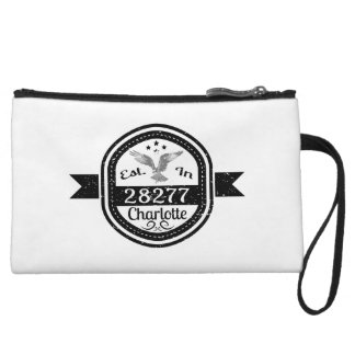 Established In 28277 Charlotte Wristlet