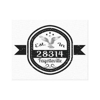 Established In 28314 Fayetteville Canvas Print