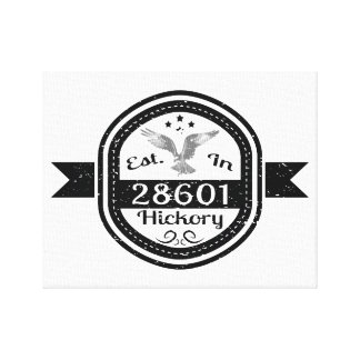 Established In 28601 Hickory Canvas Print