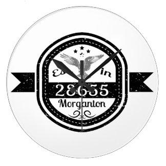 Established In 28655 Morganton Large Clock