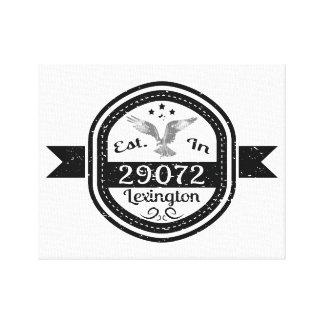 Established In 29072 Lexington Canvas Print