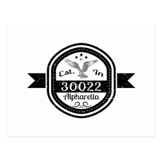 Established In 30022 Alpharetta Postcard