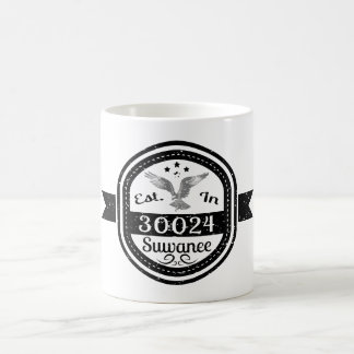 Established In 30024 Suwanee Coffee Mug