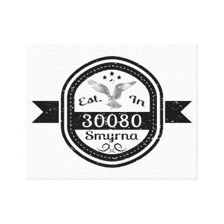 Established In 30080 Smyrna Canvas Print