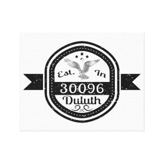 Established In 30096 Duluth Canvas Print