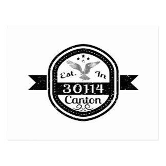 Established In 30114 Canton Postcard