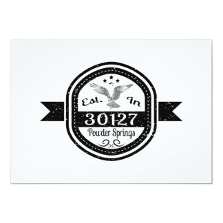 Established In 30127 Powder Springs Card
