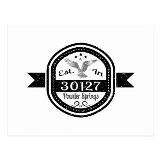 Established In 30127 Powder Springs Postcard