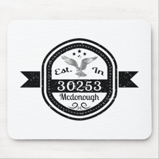 Established In 30253 Mcdonough Mouse Pad