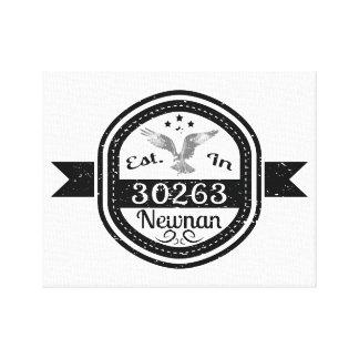 Established In 30263 Newnan Canvas Print