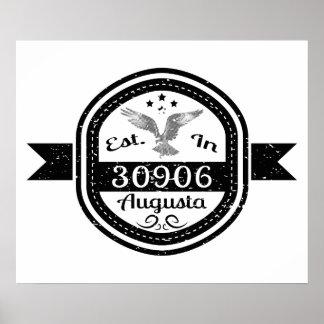 Established In 30906 Augusta Poster