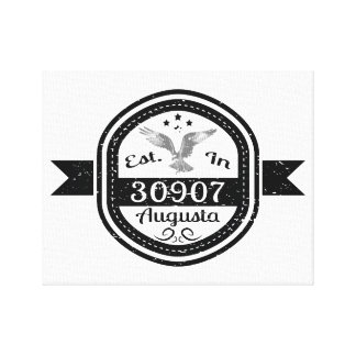 Established In 30907 Augusta Canvas Print