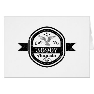 Established In 30907 Augusta Card