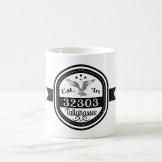 Established In 32303 Tallahassee Coffee Mug