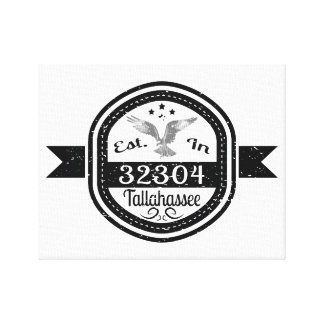 Established In 32304 Tallahassee Canvas Print