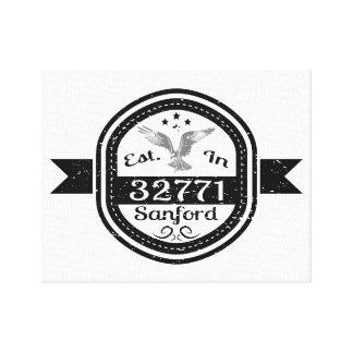 Established In 32771 Sanford Canvas Print