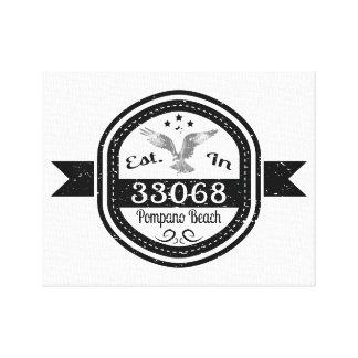 Established In 33068 Pompano Beach Canvas Print