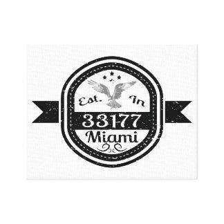 Established In 33177 Miami Canvas Print