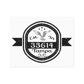 Established In 33614 Tampa Canvas Print
