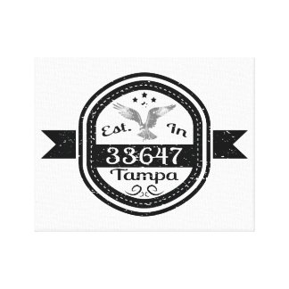 Established In 33647 Tampa Canvas Print