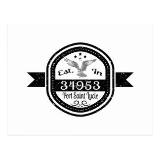 Established In 34953 Port Saint Lucie Postcard