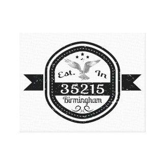 Established In 35215 Birmingham Canvas Print