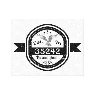 Established In 35242 Birmingham Canvas Print