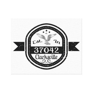 Established In 37042 Clarksville Canvas Print