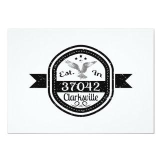 Established In 37042 Clarksville Card