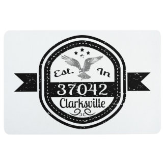 Established In 37042 Clarksville Floor Mat