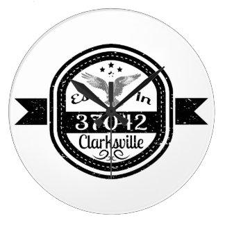 Established In 37042 Clarksville Large Clock