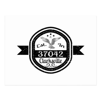 Established In 37042 Clarksville Postcard